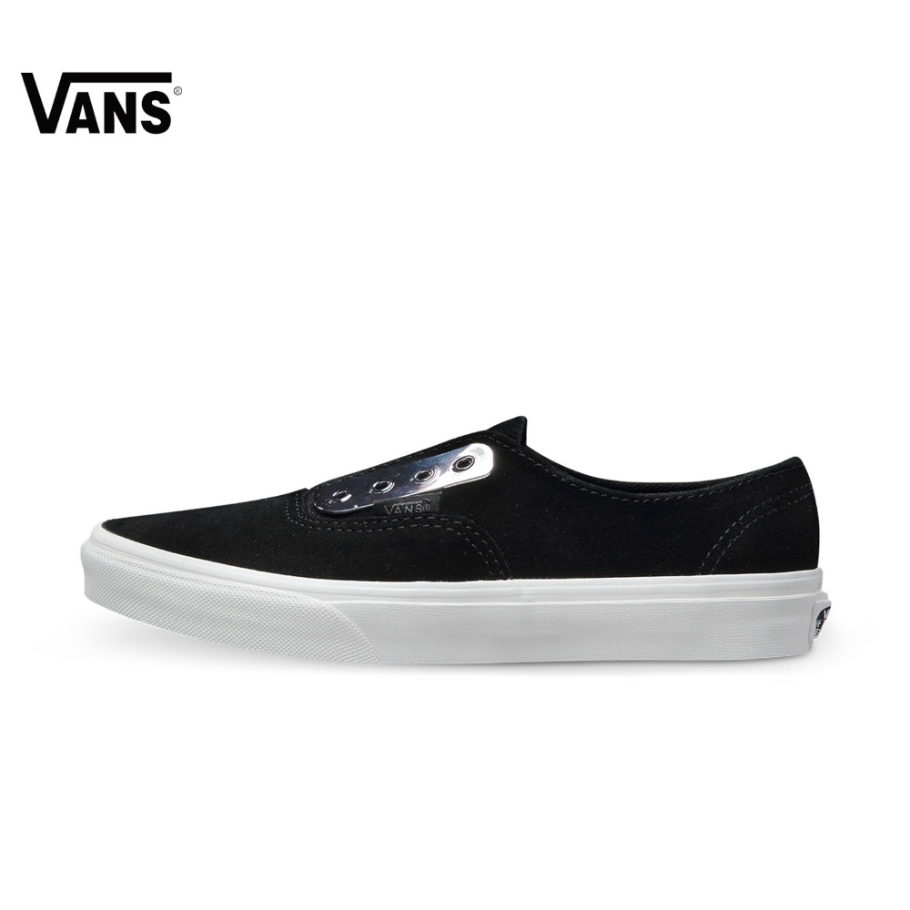 Original Vans New Arrival Low-Top Black and White Women's  Skateboarding Shoes Sport Shoes Canvas Shoes Sneakers free shipping original vans white color women skateboarding shoes sneakers beach shoes canvas shoes outdoor sports comfortable breathable