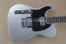 HOT Wholesale Top quality custom 6 Strings Left Hand F Telecaster silver Electric Guitar(China)
