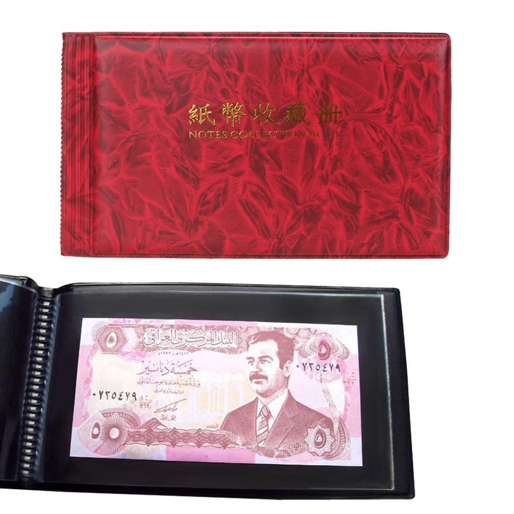 20 Pages Album photo papier argent porte-Album monnaie billet album pour pièces de monnaie Collection stockage poche photoalbum pièce Album