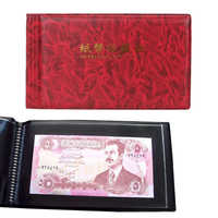 20 Pages photo Album Paper Money Album Holders Currency Banknote album for coins Collection Storage Pocket photoalbum Coin Album