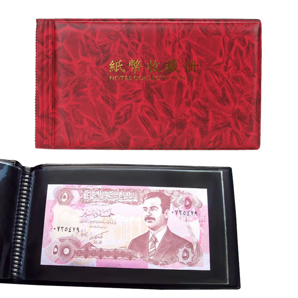 20 Sider foto Album Paper Money Album Holders Valuta Seddelalbum for mønter Samling Opbevaring Pocket photoalbum Coin Album