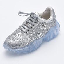 Glitter Crystal Sneakers 2019 Creepers Rhinestone Platform Women Vulcanize Casual Shoes Woman Basket femme