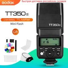 Godox Mini Speedlite TT350S Máy Ảnh Flash TTL HSS GN36 đối với Sony Không Gương Lật DSLR Máy Ảnh A7 A6000 A6500