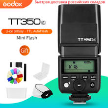 Godox Mini Speedlite TT350S kamera flaşı TTL HSS GN36 Sony Aynasız DSLR Kamera A7 A6000 A6500