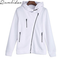 2017 Autumn Winter Hoodies Sweatshirt For Women O Neck Sexy White Black Hooded Long Sleeve Casual