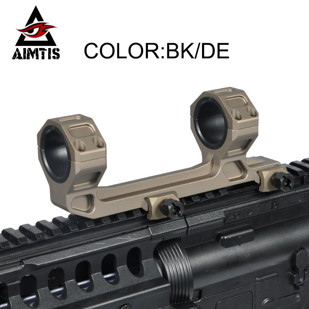 AIMTIS GE Hunting Rifle Scope Mount Optic 1 / 30mm Diameter Rings AR15 M4 M16 with Bubble Level Fit Weaver Picatinny Rail