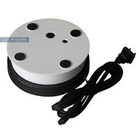 150X60MM Electric Turntable Display Stand Base 8 15 25 50 Secs Per Circle White Or Black