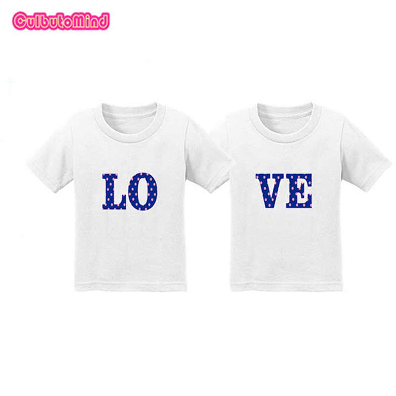 99948eda624b9 ... 2018 Infant Toddler Baby Kid Girls T shirt Birthday Twins Clothes Set  for Boys Girls Double ...