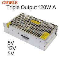 120W Triple output 5V 12V 5V Switching power supply smps AC to DC