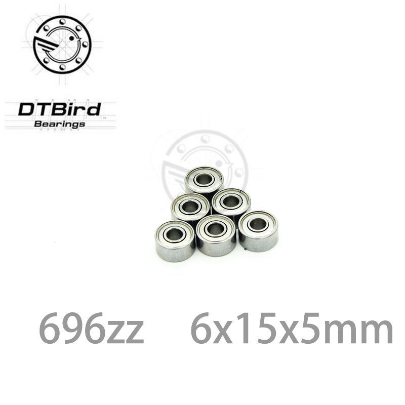 ABEC-5 10pcs 696ZZ 6x15x5 mm miniature ball bearings 696 thin wall deep groove ball bearing 6962Z 6*15*5mm fo 6mm shaft 1pcs 71901 71901cd p4 7901 12x24x6 mochu thin walled miniature angular contact bearings speed spindle bearings cnc abec 7