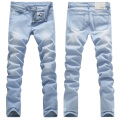 2017 New Arrival Fashion Casual Slim Straight Designer Denim Sky Blue Jeans Men Retail & Wholesale Skinny men summer jeans