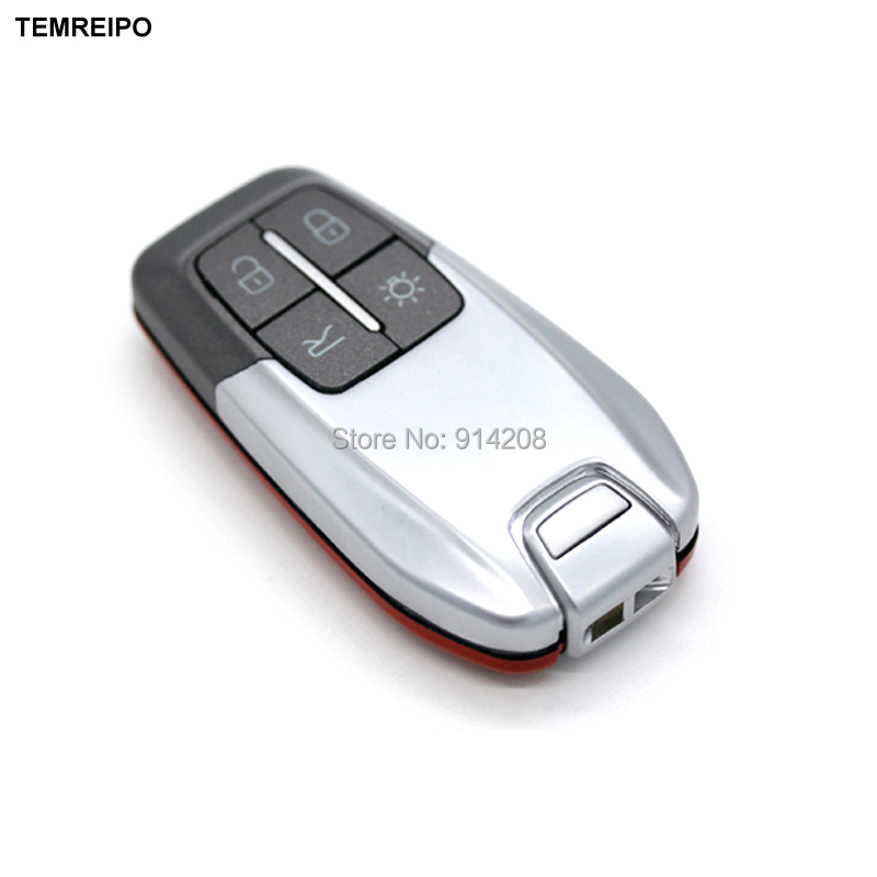 TEMREIPO 5pcs/lot 4 Buttons Replacement Smart Remote Key Shell Case For Ferrari 488 With Insert Spare Key Blade Fob Key Cover car remote key shell with shell buttons case holder cover for mercedes benz smart