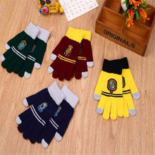Harri Potter Party Flag Supplies College Gryffindor Touch Screen Gloves Slytherin Hufflerpuff Ravenclaw Kid magic Halloween Gif(China)