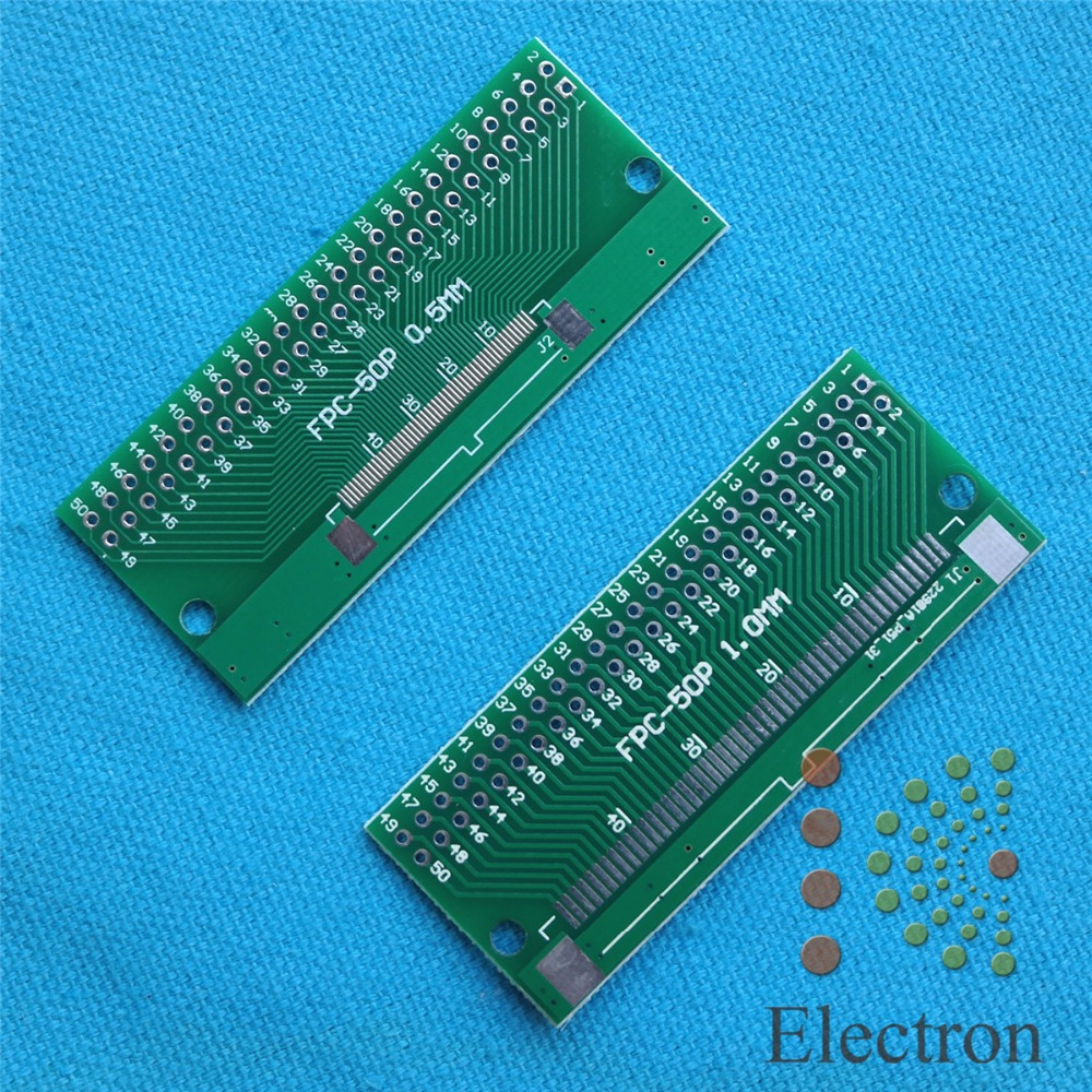 3pcs/lot 50P FFC FPC Adapter Plate 0.5MM/1.0MM Pitch to 2.54mm 50Pin Flat Cable Socket Connector for PCB Board TFT LCD new ford cup viscosity cup viscosity measurement cup paint viscosity cup 3 4 optional page 3