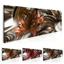Настенный плакат с изображением цветущих лилий современный абстрактный