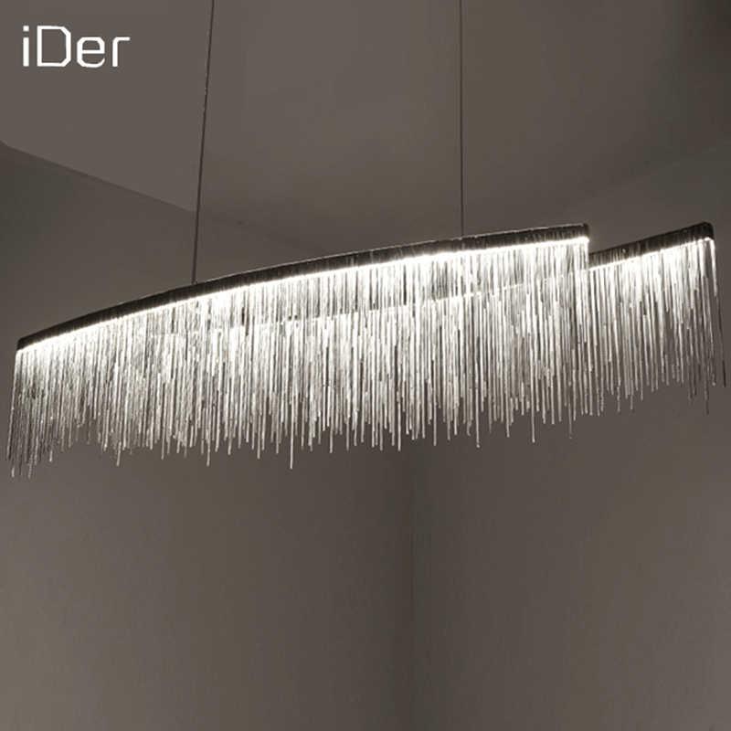 Современные дизайнерские декоративные люстры скандинавские кисточкой Ресторан роскошное освещение для отелей цепь гостиной художественное освещение