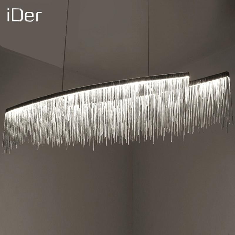 Kunsthochzeitsketten-Wohnzimmer-Kunstbeleuchtung des modernen Designers dekorativen Leuchter nordischen Quastenrestaurant Luxushotel
