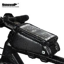 RHINOWALK велосипедов Передняя труба сумка непромокаемые Сенсорный экран Велоспорт Топ передняя Труба Каркасные сумки 5,8/6,0 чехол для телефона велосипед аксессуары