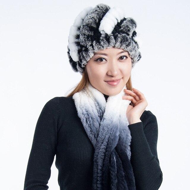 Рекс кролика волосы осенью и зимой тепловой женщин шлема зимы тепловой защитный колпак ухо шапки зимние