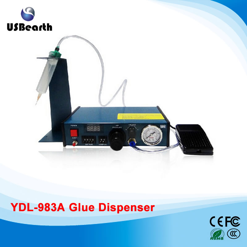 Auto Glue Dispensing Machine Solder Paste Liquid Controller Dropper Fluid dispenser YDL-983A,Russia free tax manual 53cm wallpaper glue coating machine coater wallpaper paste cementing gumming starching gluing machine