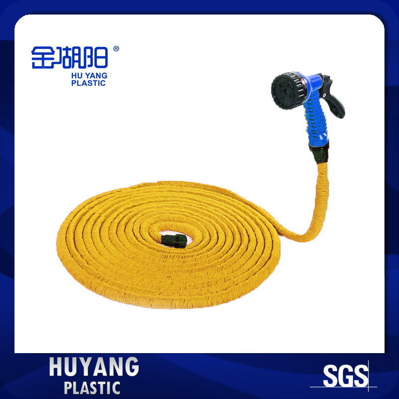 Triple Expansion Yellow 25FT Garden Hose Real Expandable Flexible Garden  Hose With Blue Gun(China