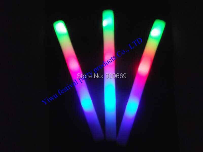 무료 배송 led 라이트 사용자 정의 로고 스틱 글로우 스틱 여러 가지 빛깔의 빨간색 파란색 녹색 플래시 led 스틱 인쇄 로고-에서글로우 파티 용품부터 홈 & 가든 의  그룹 2