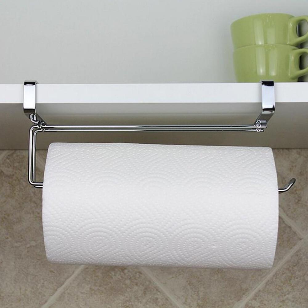 Modern Design Stainless Steel Kitchen Closet Tissue Hanging Hook Holder  Bathroom Roll Paper Holder Towel Rack