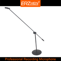 DR 50 High Quality Professional Condenser Sound Recording Microphone with Shock Mount for Radio Braodcasting Singing Black