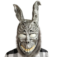 Donnie Darko Frank Rabbit Mask the Bunny Latex Hood with Fur Halloween Costume Accessory Cosplay Prop