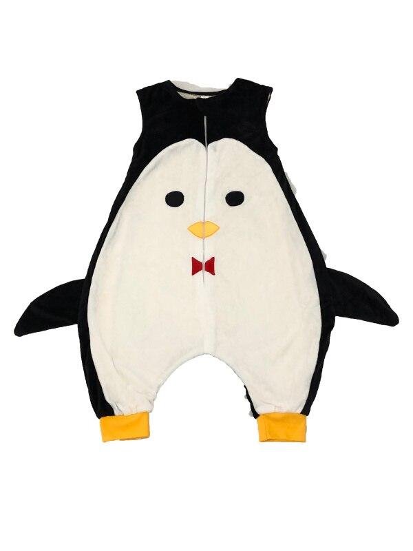 7 видов стилей; детский спальный мешок без рукавов; фланелевые пижамы для маленьких девочек с милым рисунком; спальные мешки для маленьких мальчиков - Цвет: penguin