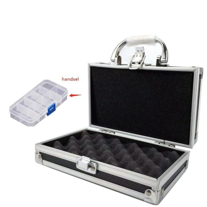Aluminium Tool Box Portable Small Storage Case Handheld Safety Equipment Instrument Box With Sponge Lining 180x110x55mm