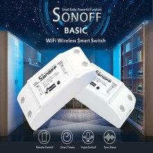 Беспроводной Wi Fi переключатель SONOFF Basic, 10 шт., Модуль Автоматизации дистанционного управления, таймер «сделай сам», универсальный умный дом, 10 А, 220 В переменного тока, 90 250 В