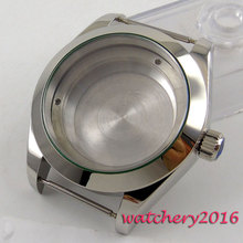 40mm 316L steel silver automatic Watch Case fit ETA 2824 2836 Movement
