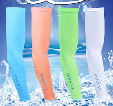 Summer Unisex Cooling Ice Arm SleevesRunning Cycling Arm Warmer Sun UV Protection Basketball Volleyball Golf Sports Arm Sleeves