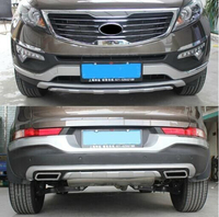 High Quality ABS Chrome Front Rear Bumper Cover Trim Fender Protection Board For Kia Sportager 2011