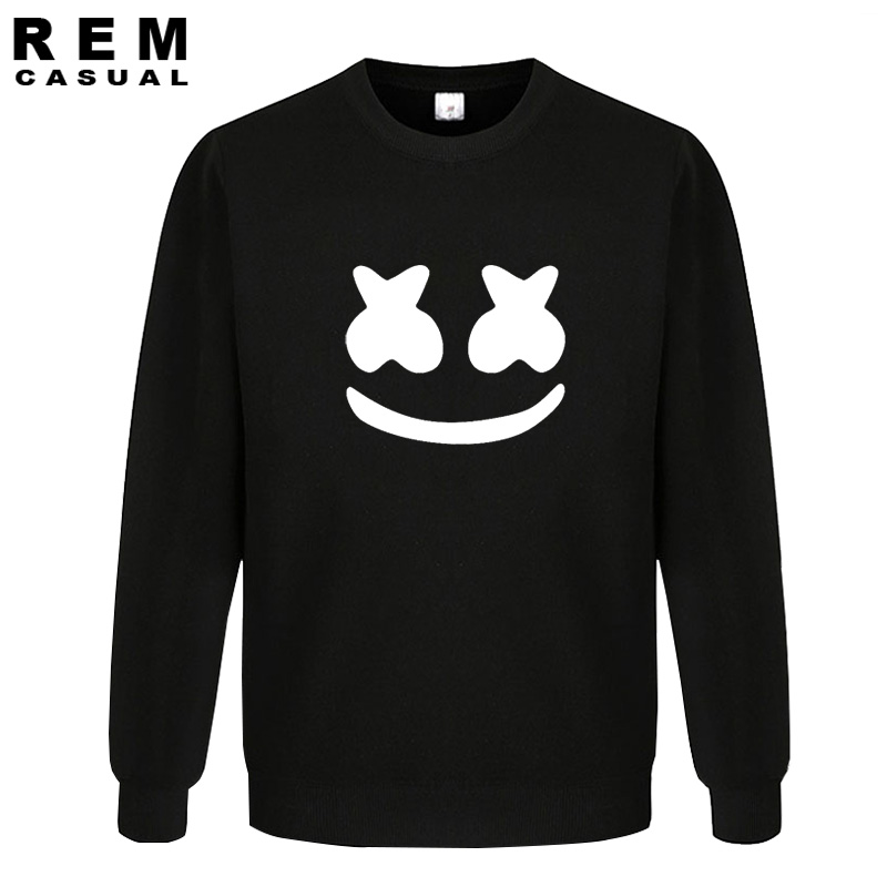 New Arrived marshmello face men casual homme cotton tops plus