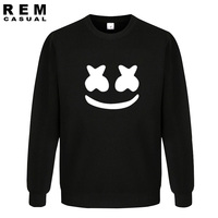 New Arrived Marshmello Face Men Casual Homme Cotton Tops Plus Fashion Long Sleeve Hoodies Sweatshirts