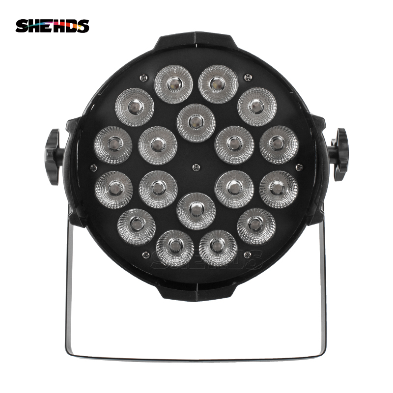 Image 2 - Aluminum Alloy LED Par 18x12W RGBW 4in1 LED Par Can Par 64 LED Spotlight Dj Projector Wash Lighting Stage Lighting-in Stage Lighting Effect from Lights & Lighting
