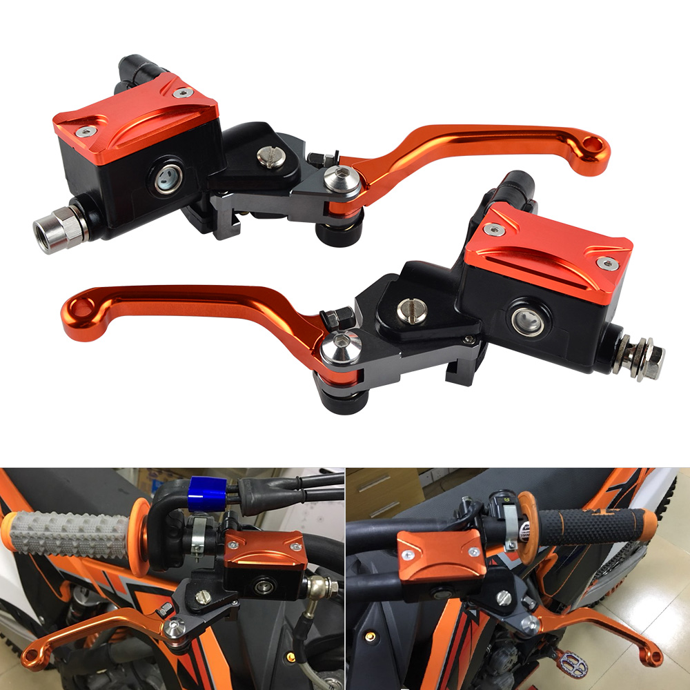 Motorcycle Hydraulic Brake Clutch Lever Assembly For KTM 65 85 125 200 250 300 350 450 500 525 530 SX XC EXC EXCF XCF XCW SMR free shipping bicycle autobike motorbike brake motorcycle brake clutch levers hydraulic clutch lever 90cm black