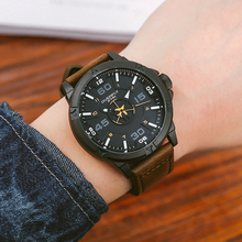 EYKI Men Three dimensional Double Big Dial Watches Male Retro Aircraft Map Sport Wrist Watch Clock 3D Design Montres hommes