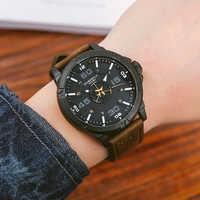 EYKI hommes en trois dimensions Double grand cadran Montres mâle rétro avion carte Sport montre-bracelet horloge 3D Design Montres hommes