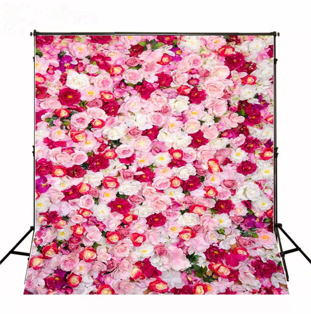 150200cm Pink White Red Flowers Baby Birthday Backdrops Background