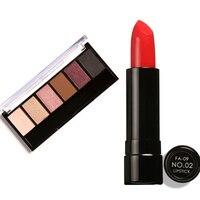 FOCALLURE Lipstick Moisturizer Smooth Lip Stick Long Lasting Charming Lip Lipstick With Glamorous Smokey Eye Shadow