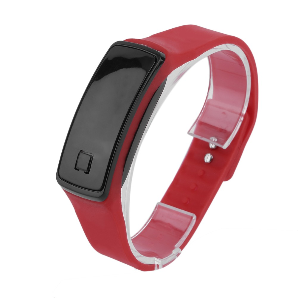 Lightweight LED Touch Design Sport Running Digital Bracelet Soft Silicone Smart Digital Wristaband White/ Black/ Red Well Sell