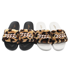 цены women fashion leopard summer winter slippers women flat shoes faux fur Slide Plush Slipper Fluffy Flip Flop furry mule Lady Shoe