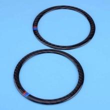 DWCX 2PCS Carbon Fiber Speaker Sticker Decorative Car Door Loudspeaker Cover Trim Fit for BMW 3 Series E90 X1 E84