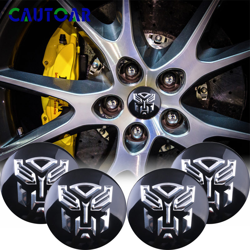 Car Styling 4Pcs/Lot 56mm Transformers Logo Car Tyre Wheel Center Hub Cap Autobots Emblem Decal Badge Sticker Accessories