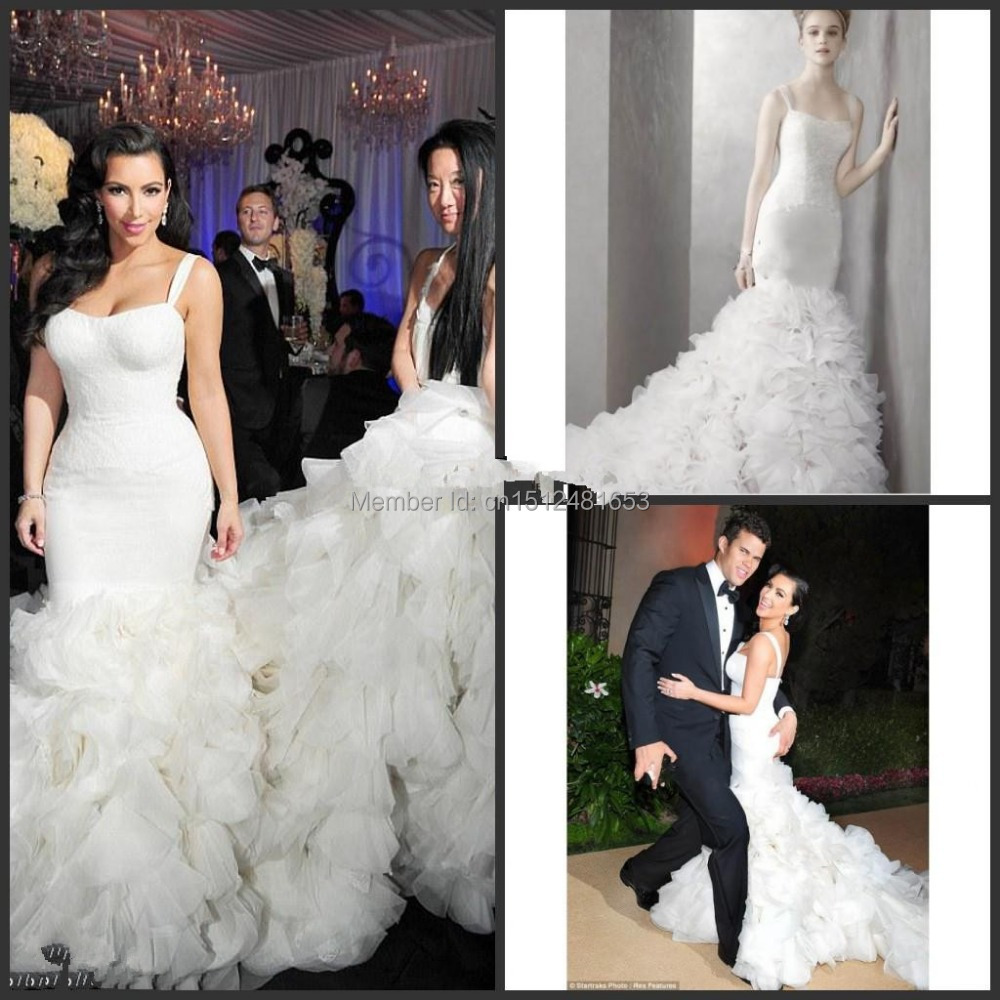Kim Kardashian Mermaid Wedding Gown : Prices on wedding kim ping buy low price