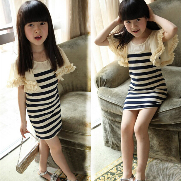 White Girl Fashion: New Fashion Chiffon And Cotton Girls Clothes Summer Black