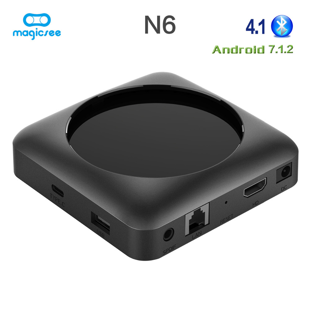Magicsee N6 Max RK3399 Android 7.1 TV BOX 4G 32G Rom 2.4 + 5G double Wifi 1000M LAN BT 4.1 Smart Box 4K décodeur - 3